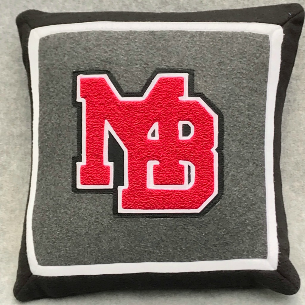 MLTees Custom Letter Pillow MB