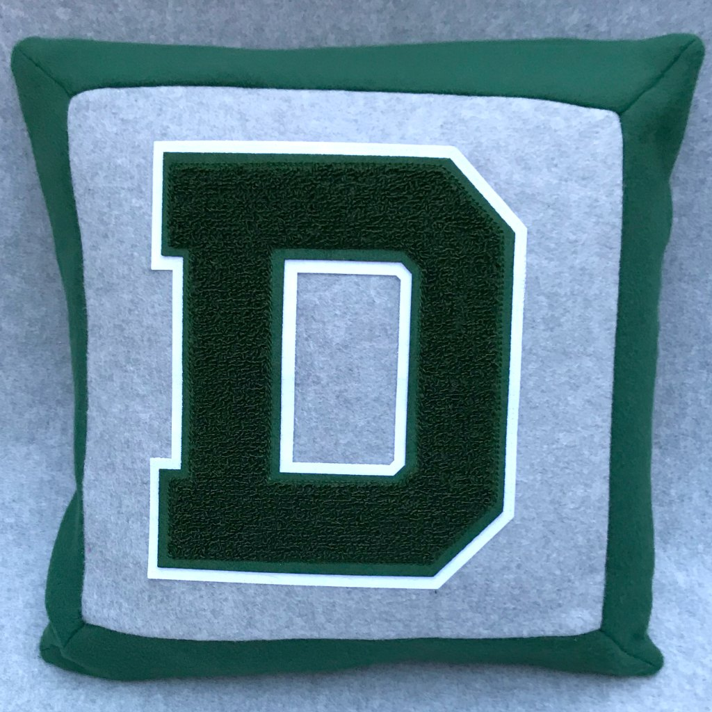 MLTees Custom Pillow Delbarton Letter